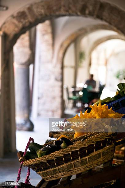 greengrocer's shop. color image - liguria stock photos and pictures