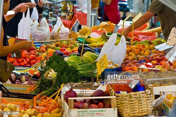 Greengrocer's Shop. Color Image