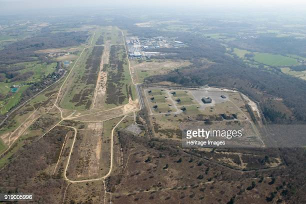 Greenham Common air base West Berkshire circa 2010s The former RAF and USAAF airfield with the GAMA Complex to one side The airfield was operational...