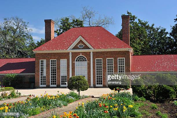 greenhouse and garden at mount vernon of virginia - fairfax county virginia stock photos and pictures