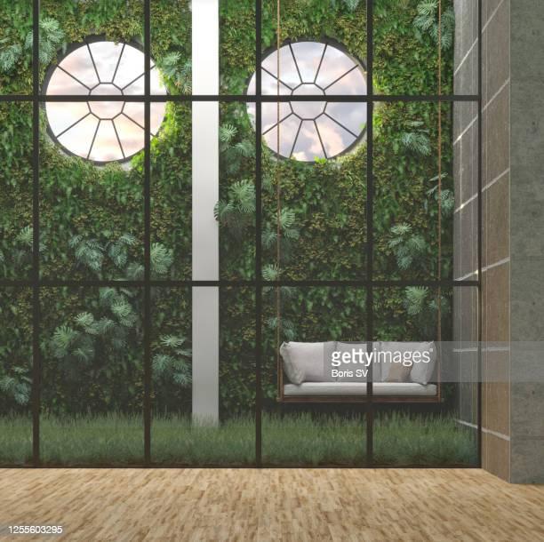 greenhouse for office break - magnoliophyta foto e immagini stock