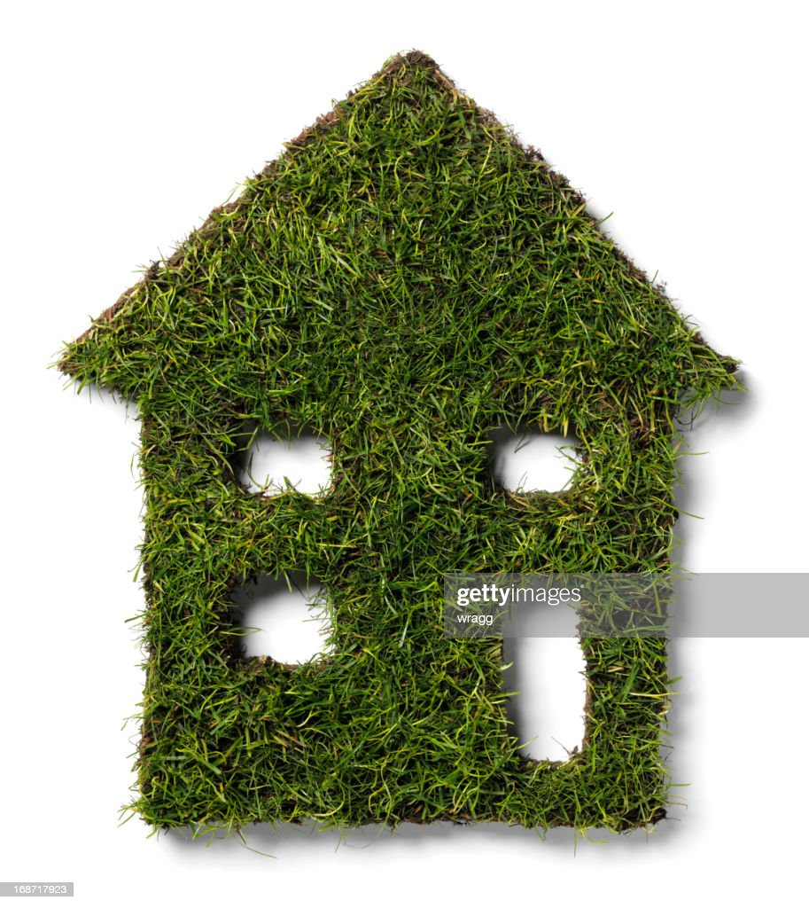 Greenhouse in Grass : Stock Photo