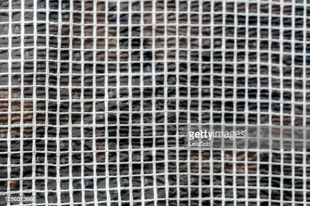 greenhouse material - reinforced film, close-up photo - mesh textile stock pictures, royalty-free photos & images