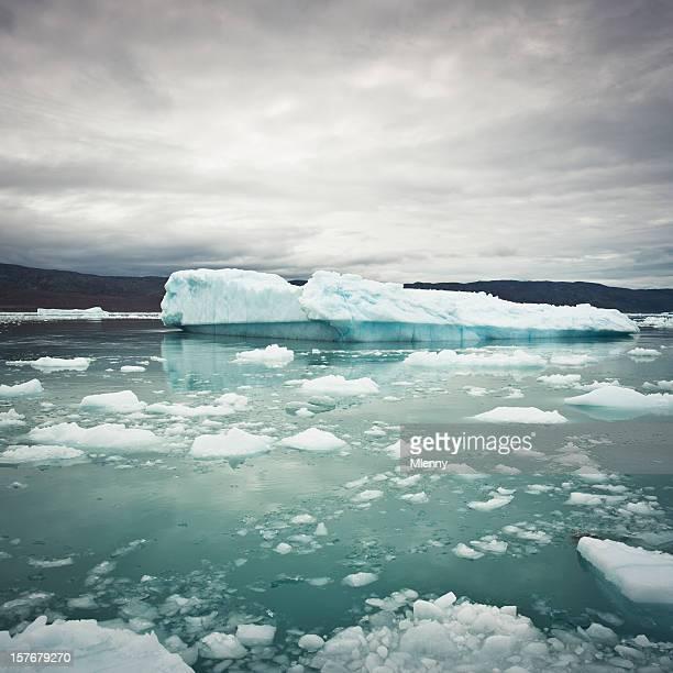 Greenland Arctic Icebergs Ice Fjord