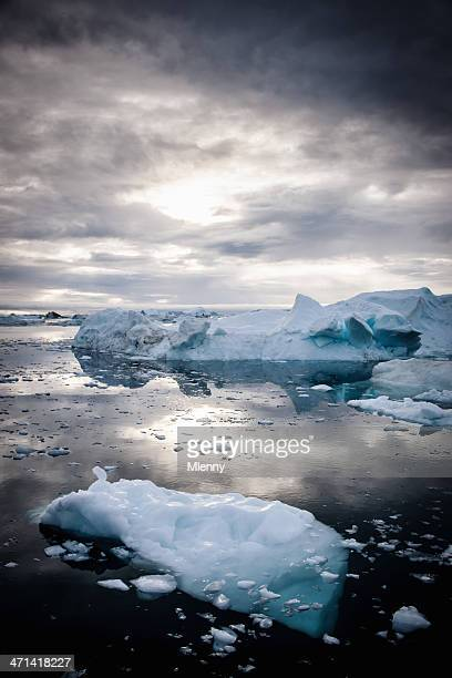 Greenland Arctic Nature Icebergs Fragile Environment