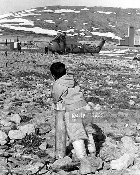 Greenland boy watches a helicopter landing at Thule US Air Base in 1966 Denmark's Supreme Court ruled 28 November that the Danish government's...