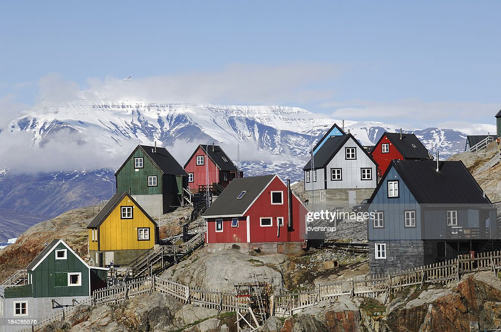 Greenland homes : Stock Photo