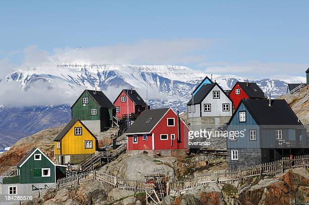 greenland homes - inuit stock pictures, royalty-free photos & images