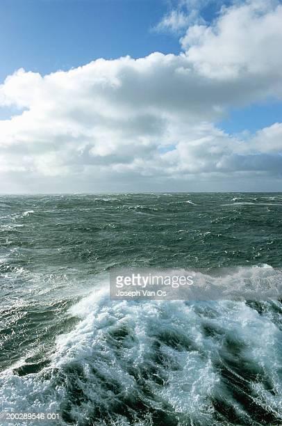 Greenland, North Atlantic Ocean, rough sea