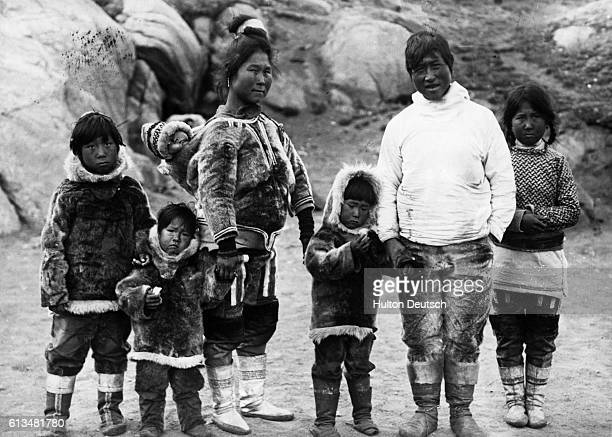 A Greenlandic couple with their children