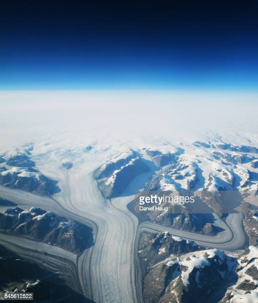 Greenland's Great Glacier Highways as seen from above