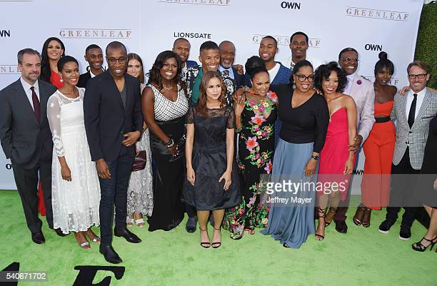 'Greenleaf' cast members arrive at the premiere of OWN's 'Greenleaf' at The Lot on June 15 2016 in West Hollywood California
