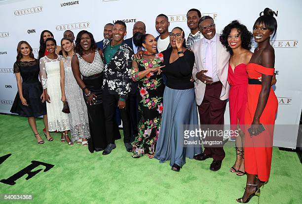 Greenleaf cast members attend the premiere of OWN's Greenleaf at The Lot on June 15 2016 in West Hollywood California