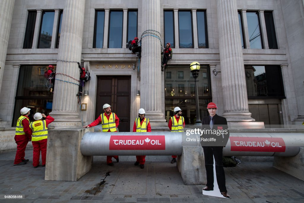 Greenpeace Protest Against Oil Pipeline Outside The Canadian High Commission