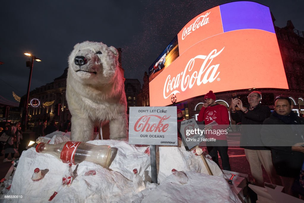 Greenpeace Activists Protest Over Coca-Cola Single Use Plastics : News Photo