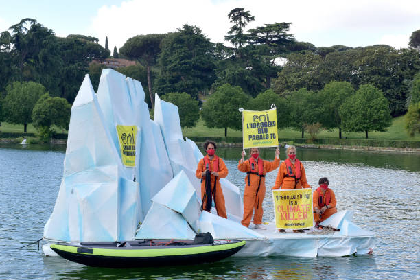 ITA: Climate Activists Stage Protest At ENI Oil Company Offices
