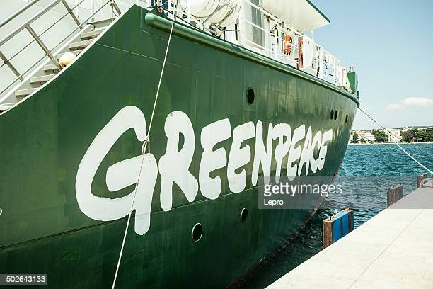 greenpeace logo - greenpeace stock photos and pictures