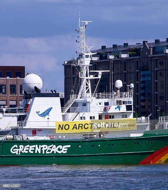 greenpeace ship - greenpeace stock photos and pictures
