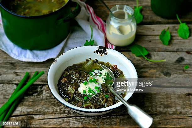 Greens bacon soup
