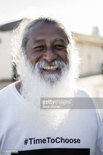 Greens candidate for the seat of Wentworth Dominic WY Kanak is pictured at Bondi Beach Surf Club on May 18 2019 in Sydney Australia Australians head...