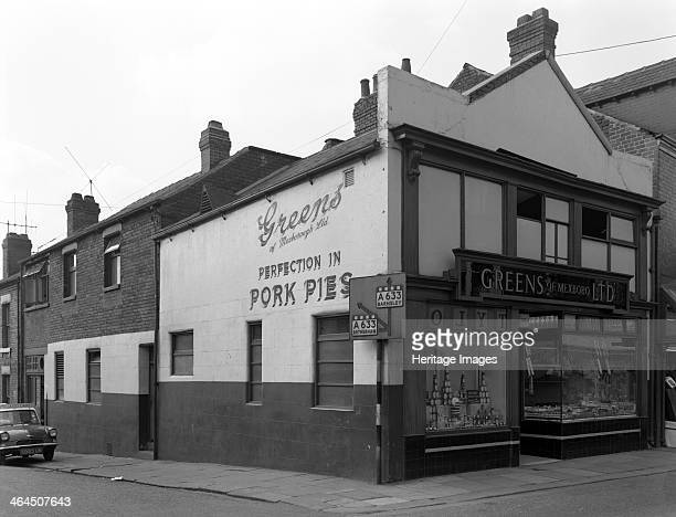 Green's of Mexboro Ltd shop in Mexborough South Yorkshire 1963 A photograph commissioned by Associated Diaries Ltd showing Mr Fred Green's corner...