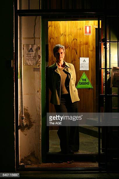 Greens state election Campaign Co ordinator Bronwen Mander outside their Lt Bourke St office on 23 October 2006 THE AGE NEWS Picture by PENNY STEPHENS