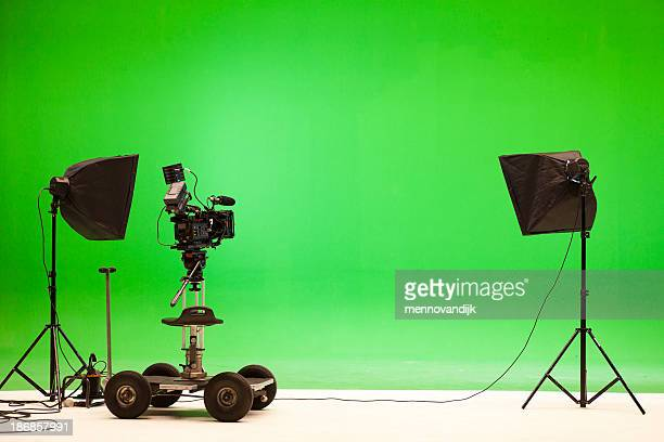 greenscreen studio setup - film studio stock pictures, royalty-free photos & images