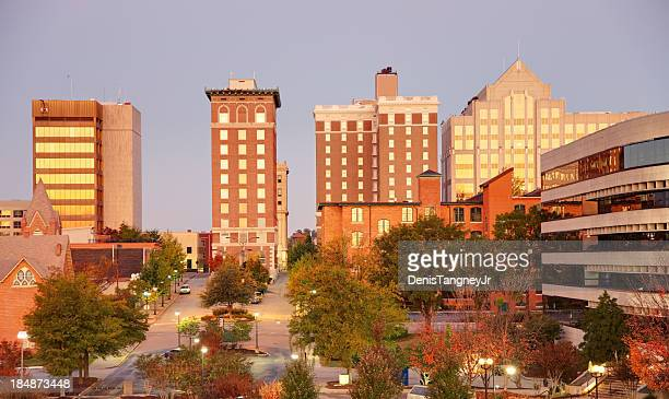 greenville skyline - greenville south carolina stock photos and pictures