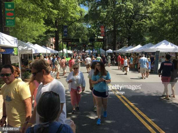 greenville, south carolina - july 8, 2017 - saturday market - greenville south carolina stock photos and pictures