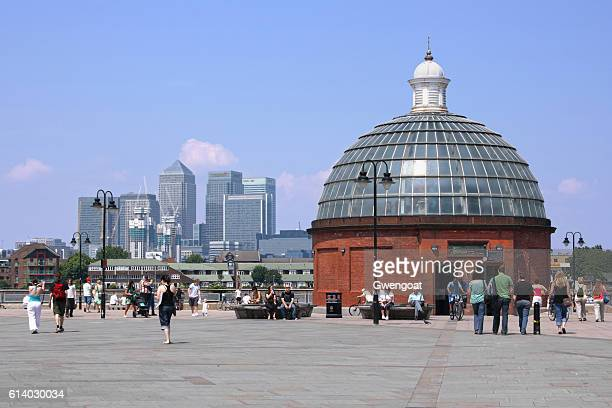 greenwich foot tunnel - gwengoat stock pictures, royalty-free photos & images