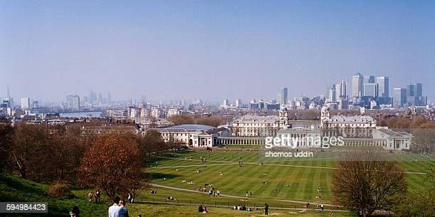 Greenwich Maritime and the city skyline