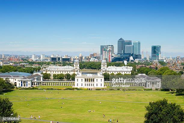 Greenwich Park and London Skyline