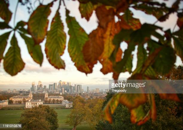 greenwich park, london, england, united kingdom - isle of dogs london stock pictures, royalty-free photos & images