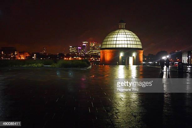 Greenwich pier, evening.