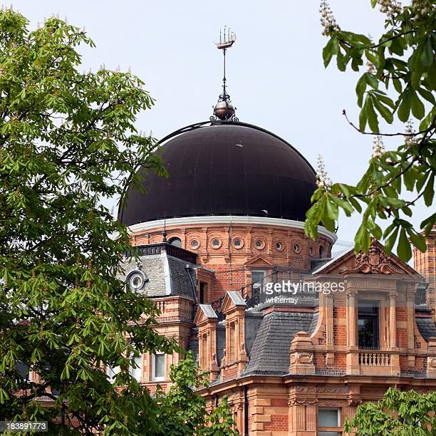 greenwich royal observatory, south building - greenwich london stock pictures, royalty-free photos & images