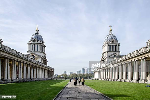 greenwich university: queen mary court and king william court - mary i of england stock photos and pictures