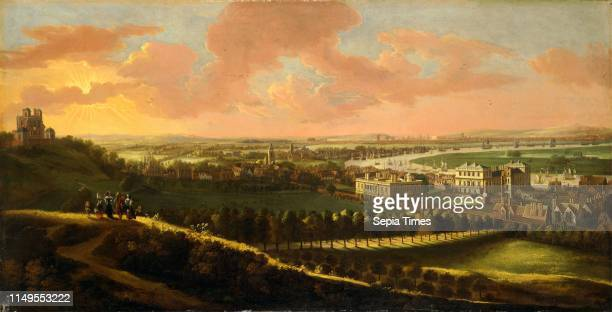 Greenwich, with London in the distance View of London from Greenwich Hill, unknown artist, 17th century, British