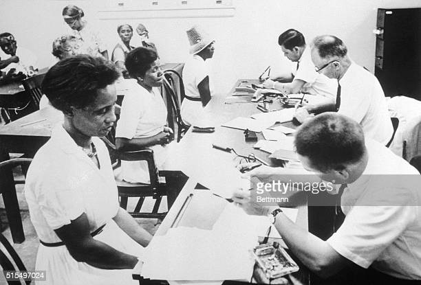 Greenwood Mississippi Three Federal Voter registrars set up an office in the basement of the U S Post Office Building to register prospective voters...