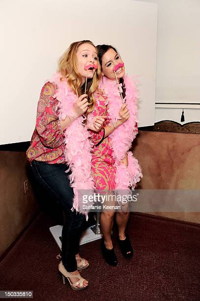 Greer Grammer and Alex Frnka attend LOFT And Giuliana Rancic Celebrate The Launch Of Live In Pink In Support Of BCRF at Petit Ermitage Hotel on...