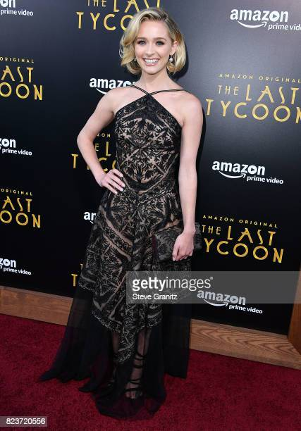 Greer Grammer arrives at the Premiere Of Amazon Studios' 'The Last Tycoon' at the Harmony Gold Preview House and Theater on July 27 2017 in Hollywood...