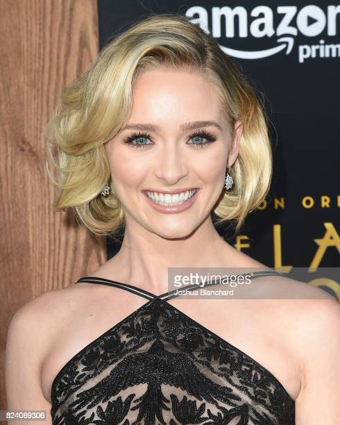 Greer Grammer arrives at the Premiere Of Amazon Studios' The Last Tycoon at the Harmony Gold Preview House and Theater on July 27 2017 in Hollywood...