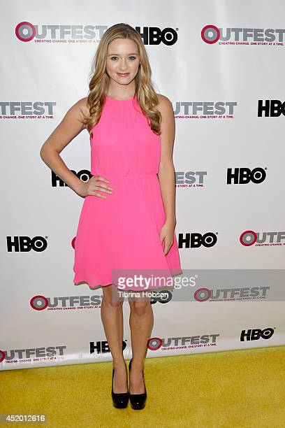 "Greer Grammer attends the 2014 Outfest opening night gala premiere of ""Life Partner"" at Orpheum Theatre on July 10, 2014 in Los Angeles, California."
