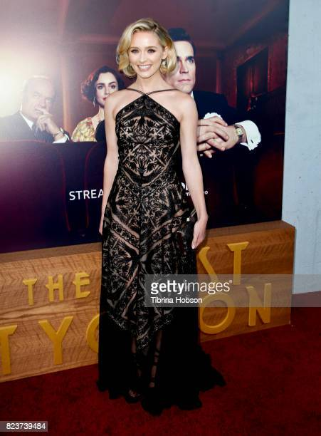 Greer Grammer attends the premiere of Amazon Studios 'The Last Tycoon' at the Harmony Gold Preview House and Theater on July 27, 2017 in Hollywood,...