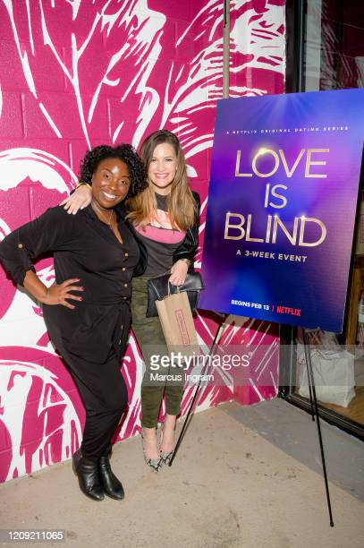 Greer Howard and Ciara Hodges attend the Netflix's Love is Blind VIP viewing party at City Winery on February 27 2020 in Atlanta Georgia