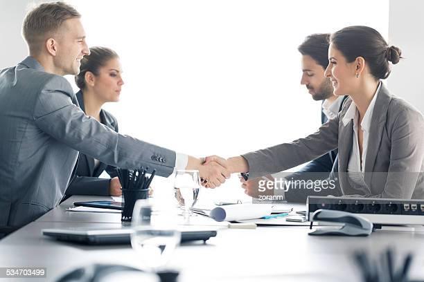 Begrüßung ein Berater