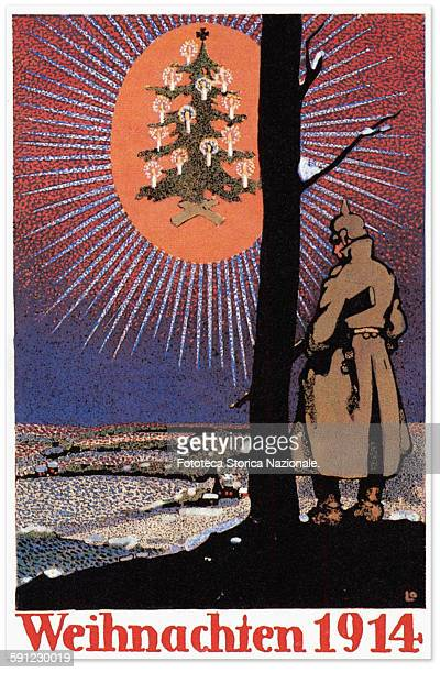 greeting card German from the front line the Christmas tree appears to soldier like a bright mirage yet in that year were different areas at the...
