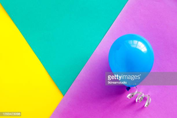 greeting card template with balloons top