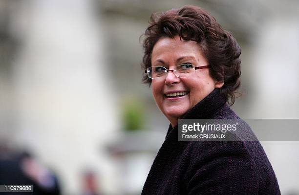 Greeting of President Nicolas Sarkozy to the Bodies and Officials in Lille France on January 11th 2008 Christine Boutin