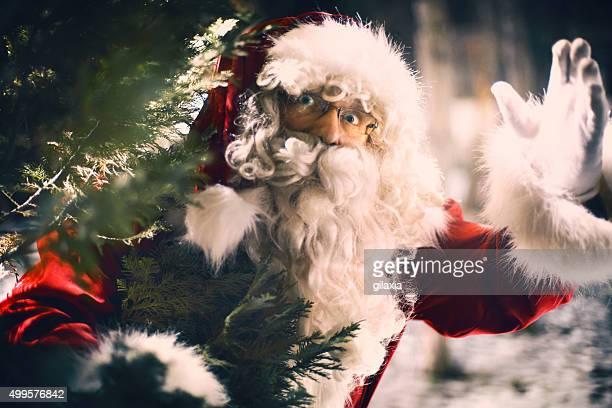 Greeting Santa.