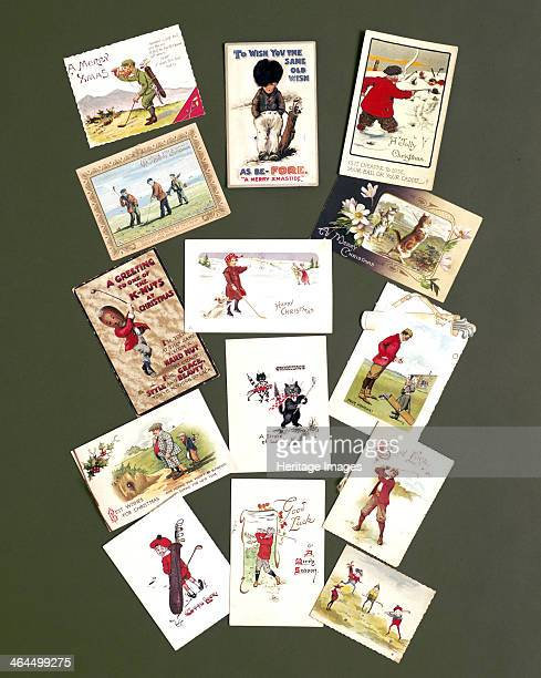 Greetings cards c1905c1920 All with a golfing theme